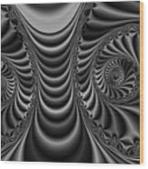 2x1 Abstract 435 Bw Wood Print