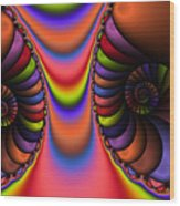 2x1 Abstract 439 Wood Print