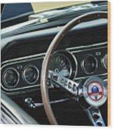 1966 Ford Mustang Cobra Steering Wheel Wood Print