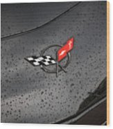 2002 Corvette Ls1 Painted Bw Wood Print