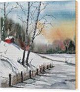 A Classic Winter Wood Print
