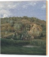 A French Homestead Wood Print