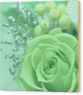 A Gift Of Preservrd Flower And Clay Flower Arrangement, White An Wood Print