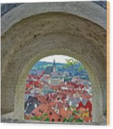A View Of Cesky Krumlov In The Czech Republic Wood Print