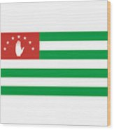 Abkhazia Flag Wood Print