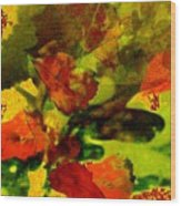 Abstract Landscape, Fall Theme Wood Print