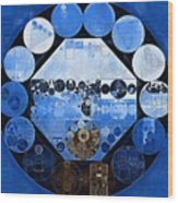 Abstract Painting - Yale Blue Wood Print