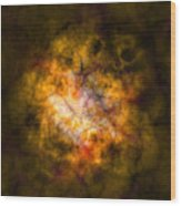 Abstract Stars Nebula Wood Print