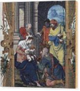 Adoration Of Magi Wood Print