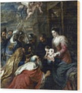 Adoration Of The Magi Wood Print by Granger