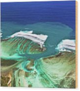 Aerial View Of The Underwater Channel. Mauritius Wood Print