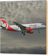 Air Canada Rouge Airbus A319-114 Wood Print