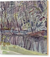 Alder Creek Wood Print