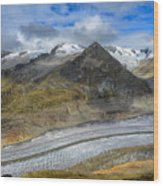 Aletsch Glacier, Switzerland Wood Print