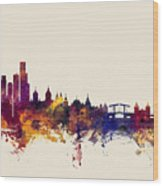 Amsterdam The Netherlands Skyline Wood Print