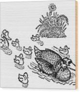 Andersen: Ugly Duckling Wood Print