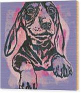 Animal Pop Art Etching Poster - Dog  5  Wood Print