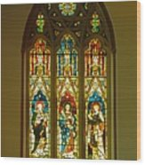 3 Apostles South Stained Glass Window Christ Church Cathedral 1 Wood Print