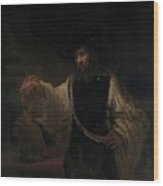 Aristotle With A Bust Of Homer Wood Print