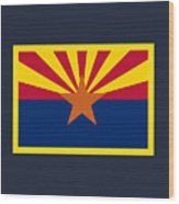 Arizona Flag Wood Print