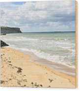 Arromanches Beach Wood Print
