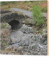Ashness Stone Packhorse Bridge, Lake District National Park Wood Print