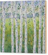 Aspen Trees Colorado Wood Print