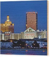 Atlantic City Skyline Wood Print