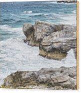 Atlantic Coastline In Bahamas Wood Print