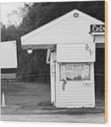 Auburn, Ny - Drive-in Theater Bw Wood Print