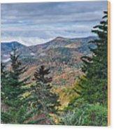 Autumn Foliage On Blue Ridge Parkway Near Maggie Valley North Ca Wood Print