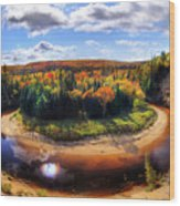 Autumn In Arrowhead Provincial Park Wood Print