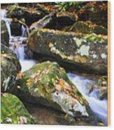 Autumn Mountain Stream Wood Print