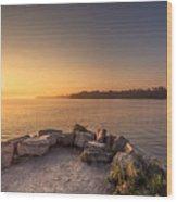 Sunrise At Sibbald Point Wood Print