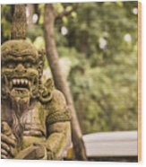 Bali Sculptures Wood Print