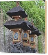 3 Bali Shrines Wood Print