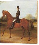 Barraud Henry Richard Paget Of Cropston Leicester On A Bay Hunter Henry Barraud Wood Print
