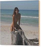 Beach Girl Wood Print