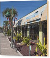 Beachland Boulevard At Vero Beach In Florida Wood Print