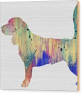 Beagle-colorful Wood Print