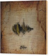 Believe Recorded Soundwave Collection Wood Print