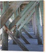 Beneath The Docks Wood Print