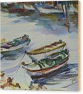 3 Boats I Wood Print