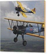 Boeing Stearman Model 75 Kaydet In U.s Wood Print