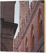 Bologna Tower Wood Print by Andre Goncalves