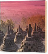 Borobudor Temple Wood Print