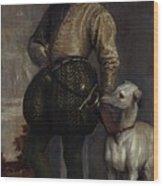 Boy With A Greyhound Wood Print