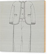 Boy's Suit Wood Print