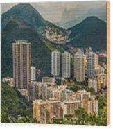 Brasil Rio De Janeiro Wood Print