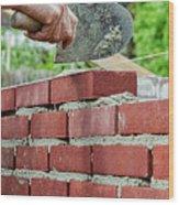 Bricklaying Wood Print